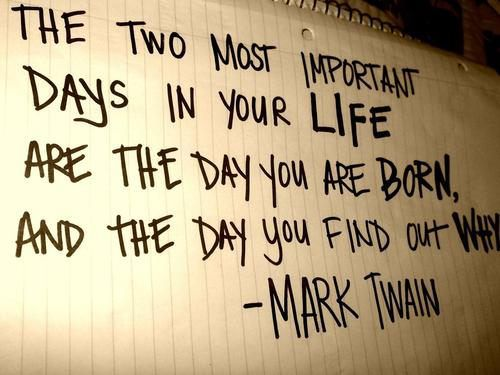 mark twain - two important days